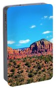 Oak Creek Jack's Canyon Blue Sky Clouds Red Rock 0228 3 Portable Battery Charger