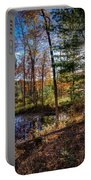 October Late Afternoon Portable Battery Charger by Kendall McKernon