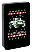 Offroad Monster Truck Christmas Xmas Winter Holidays Portable Battery Charger