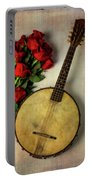 Old Banjo And Roses Portable Battery Charger