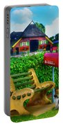 Old Dutch Cottage Painting Portable Battery Charger