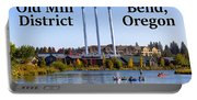 Old Mill District Bend Oregon Portable Battery Charger