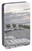 Old Orchard Beach Tranquil Morning Portable Battery Charger