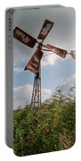 Old Rusty Windmill. Portable Battery Charger by Anjo Ten Kate