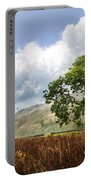 Old Scottish Farmlands Under The Clouds Portable Battery Charger
