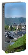 old town walls and church and buildings of Cochem Portable Battery Charger