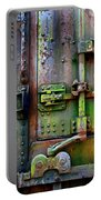 Old Weathered Railroad Boxcar Door Portable Battery Charger