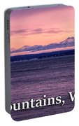 Olympic Mountains, Washington Portable Battery Charger