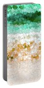 On The Beach Abstract Painting Portable Battery Charger