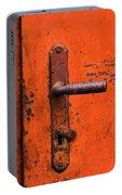 Orange Door Handle Portable Battery Charger