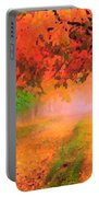 Orange Fall Portable Battery Charger
