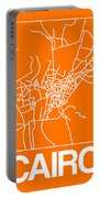 Orange Map Of Cairo Portable Battery Charger