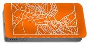 Orange Map Of Havana Portable Battery Charger