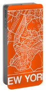Orange Map Of New York Portable Battery Charger