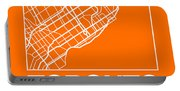 Orange Map Of Toronto Portable Battery Charger