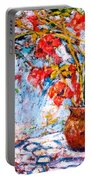 Orange Trumpet Flowers Portable Battery Charger