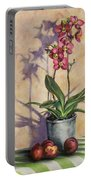 Orchids And Plums Portable Battery Charger