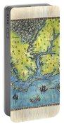 Outer Banks Historic Antique Map Hand Painted Portable Battery Charger