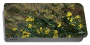 Painted Fall Flowers Portable Battery Charger