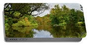 Painted Fall On The Back Pond Portable Battery Charger