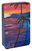 Palm Trees And Water Portable Battery Charger