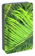 Palms In Light And Shadow Portable Battery Charger
