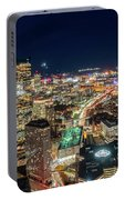 Panoramic View Of The Boston Night Life Portable Battery Charger