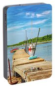 Paradise Sailing Day In Maine Portable Battery Charger