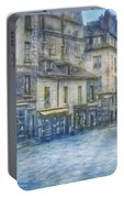 Paris, Rue Du Haut Pave 1866 Portable Battery Charger