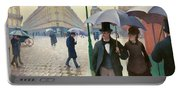 Paris Street In Rainy Weather - Digital Remastered Edition Portable Battery Charger