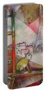 Paris Through The Window - Paris Par La Fenetre, 1913 Portable Battery Charger