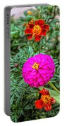 Pastel Wild Flowers Portable Battery Charger