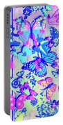 Pastel Wings And Button Butterflies Portable Battery Charger