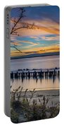 Peaceful Sunset At Sandy Hook Portable Battery Charger