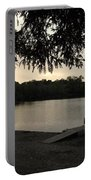 Peaceful Sunset At The Park Portable Battery Charger
