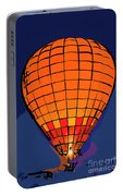 Peach Hot Air Balloon Night Glow In Abstract Portable Battery Charger