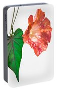 Peach Morning Glory Portable Battery Charger