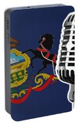 Pennsylvania Flag And Microphone Portable Battery Charger
