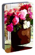 Peonies Free Portable Battery Charger