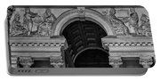 Philadelphia City Hall Fresco In Black And White Portable Battery Charger