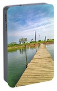 Pier View Goat Island Fantastic Scene Portable Battery Charger