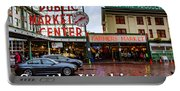 Pikes Place Public Market Center Seattle Washington Portable Battery Charger