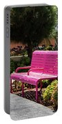 Pink Chairs At Grand Park Portable Battery Charger
