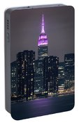 Pink Empire State Building Portable Battery Charger