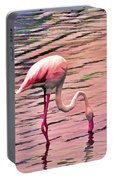 Pink Flamingo Two Portable Battery Charger