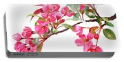 Pink Flowering Tree Blossoms Portable Battery Charger