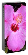Pink Hibiscus Portable Battery Charger