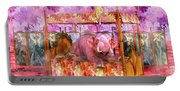 Pink Laughing Elephant Portable Battery Charger