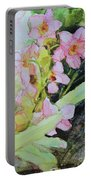 Pink Moth Orchids II Portable Battery Charger