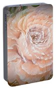 Pink Rose Romance Dark In Orange Portable Battery Charger